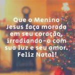 Mensagem de feliz natal menino jesus