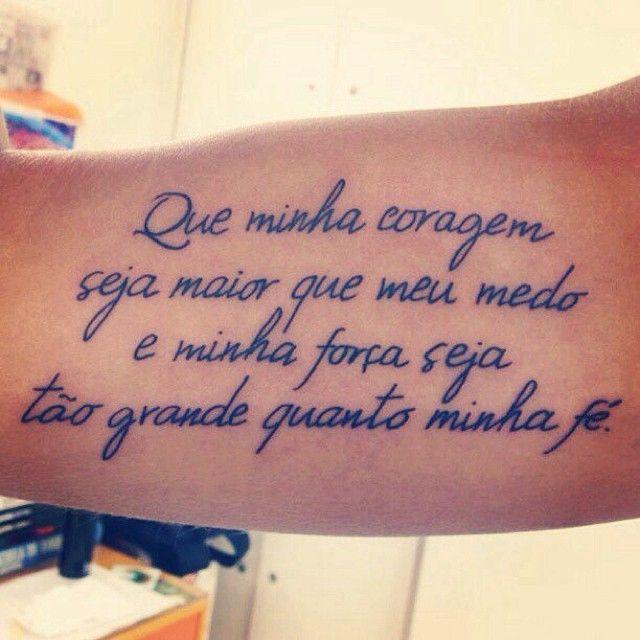 Que minha coragem seja maior que meu medo