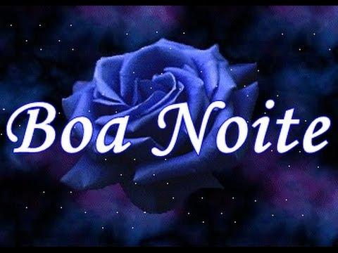 Flor azul com mensagem de boa noite