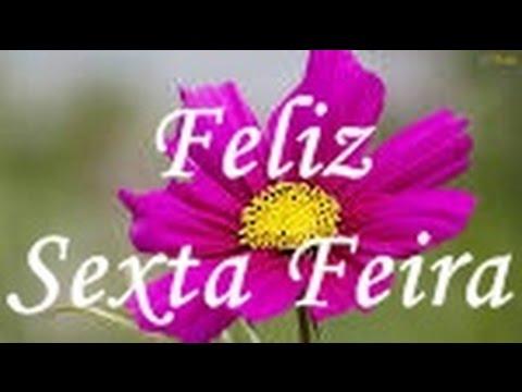 Flor com mensagem de feliz sexta feira