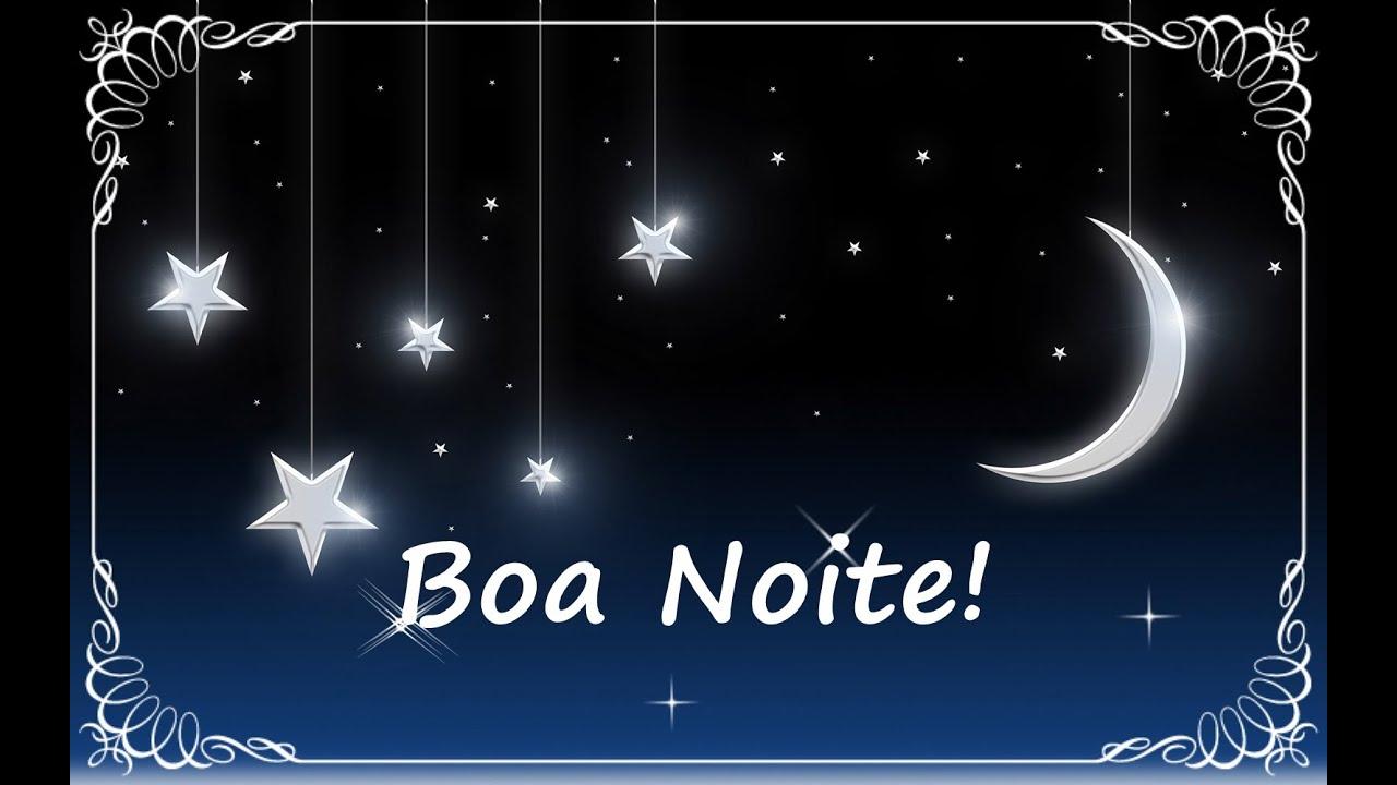 Mensagem de boa noite com estrelas e lua