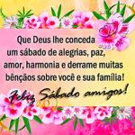 Um feliz sábado com as bênçãos de Deus